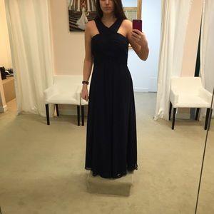 de99955ee8 Bill Levkoff Dresses - Bill Levkoff 1218 Bridesmaid Dress in Navy